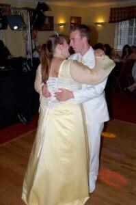 lemon yellow wedding dress